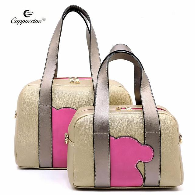 2019 Capuchino Moda Mujer Oso 2 En 1 Boston Bag Fabricante Buy Bolso Boston 2 En 1,Piel Vegana Sintética China,Precio Al Por Mayor Product on