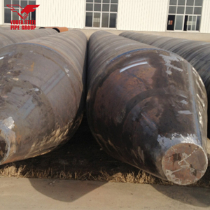 best quality Black ERW Hot rolled corrugated large diameter ssaw spiral welded steel pipe for projects