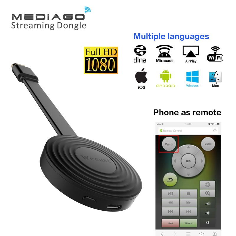 <strong>USA</strong> Market Wifi <strong>Dongle</strong> Mediago Miracast HDMI Smart TV <strong>Dongle</strong> for IOS/Mac