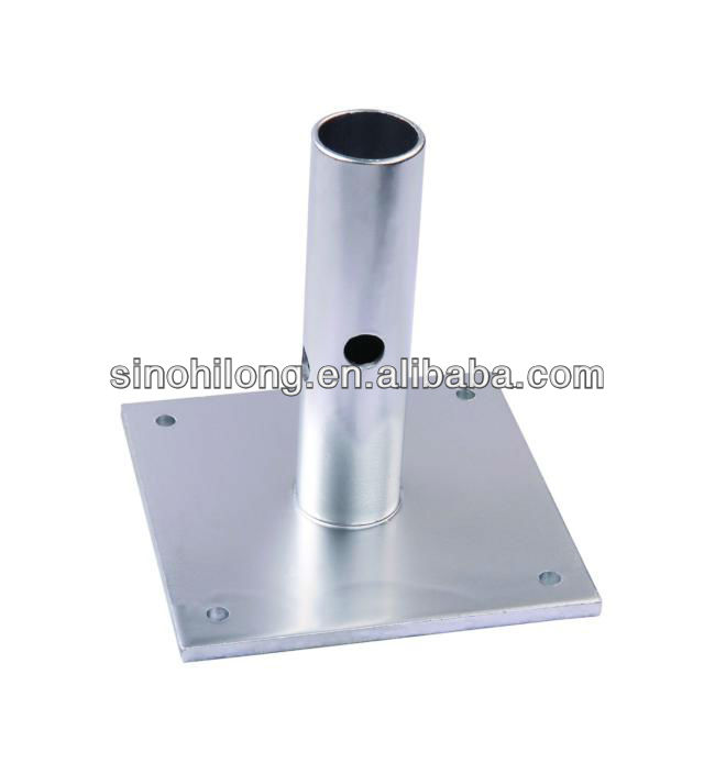 hollow scaffolding base plate/scaffolding shoring jack base