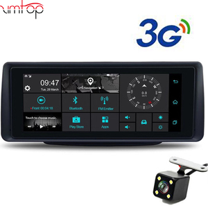 "7""Touch Android 3G Rearview Mirror DVR GPS WIFI car video recorder auto dash camera FHD 1080P Dual Camera ROM 16GB"