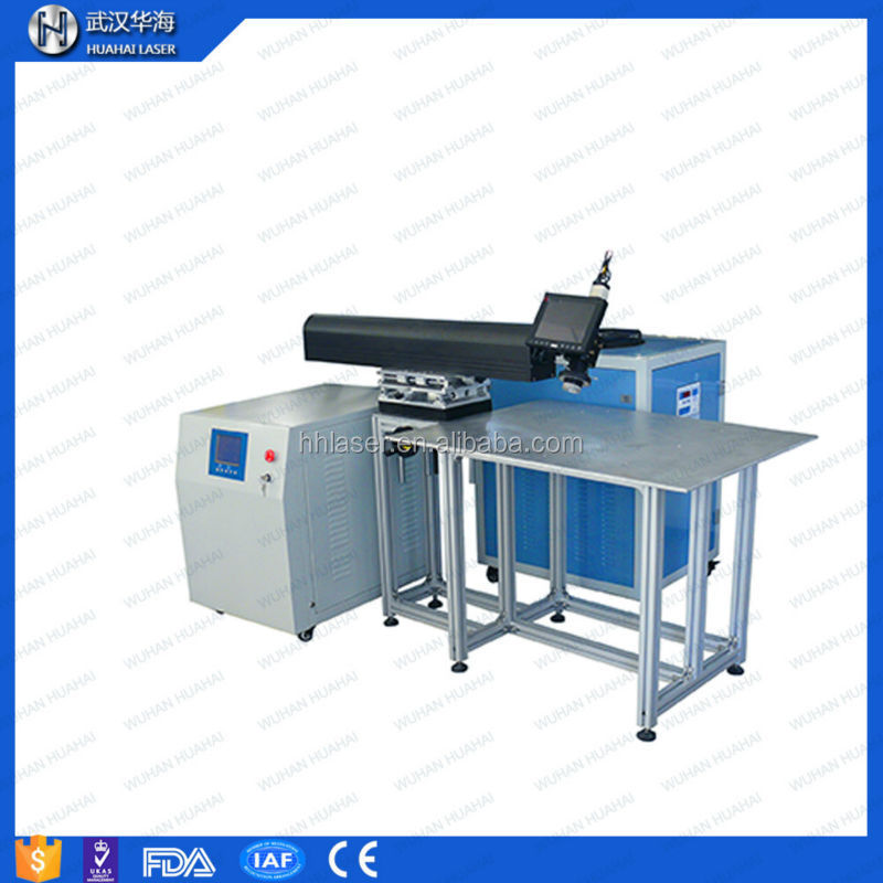 Huahai laser welder 200 amp welding machine used in metal stainless steel aluminium brass channel letter