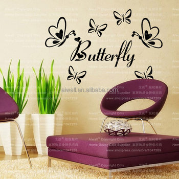 9386 Butterfly Wall Stickers Heart Dragonfly Kid Room Wall Art Home Decor  Decal 3D Flower Butterfly Part 56