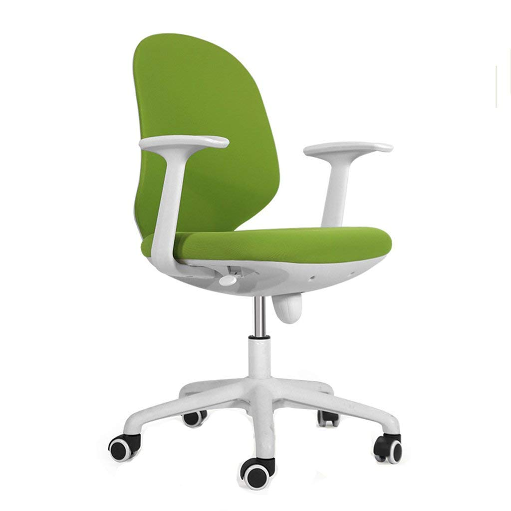 Wei Hong Home Office Chairs Simple Bar Stools Stainless Steel Highchairs Backrest Bars Home Bar Stools Bar Chairs Adjustable Height 360° Rotation (Color : Green, Size : 515987.5cm)