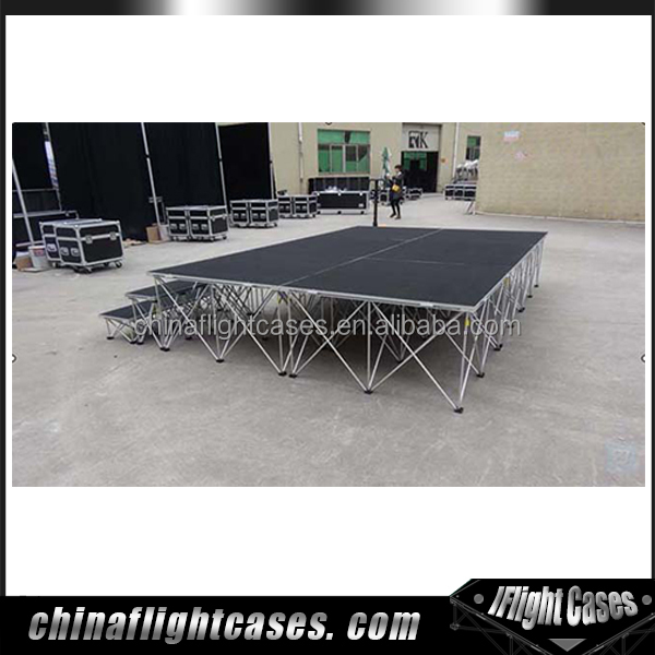 Factory Price Wedding Stage Backdrop Adjustable Concert Staging for Party