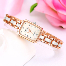 Lvpai Fashion Rhinestone Square Classic Casual Wristwatch Women Luxury Brand Stainless Steel Bracelet Ladies China Watch