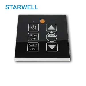 PE383TI IR remote 500W triac dimmer / led dimmer glass grade touch panel