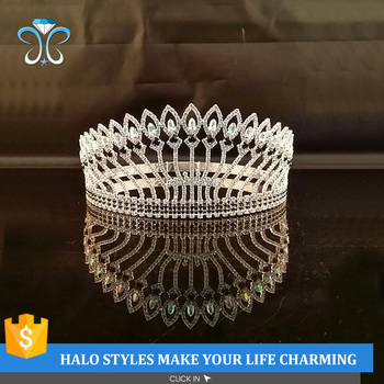 Wholesale New Coming Hihg Quality Full Round Bride Wedding Crowns H172-300
