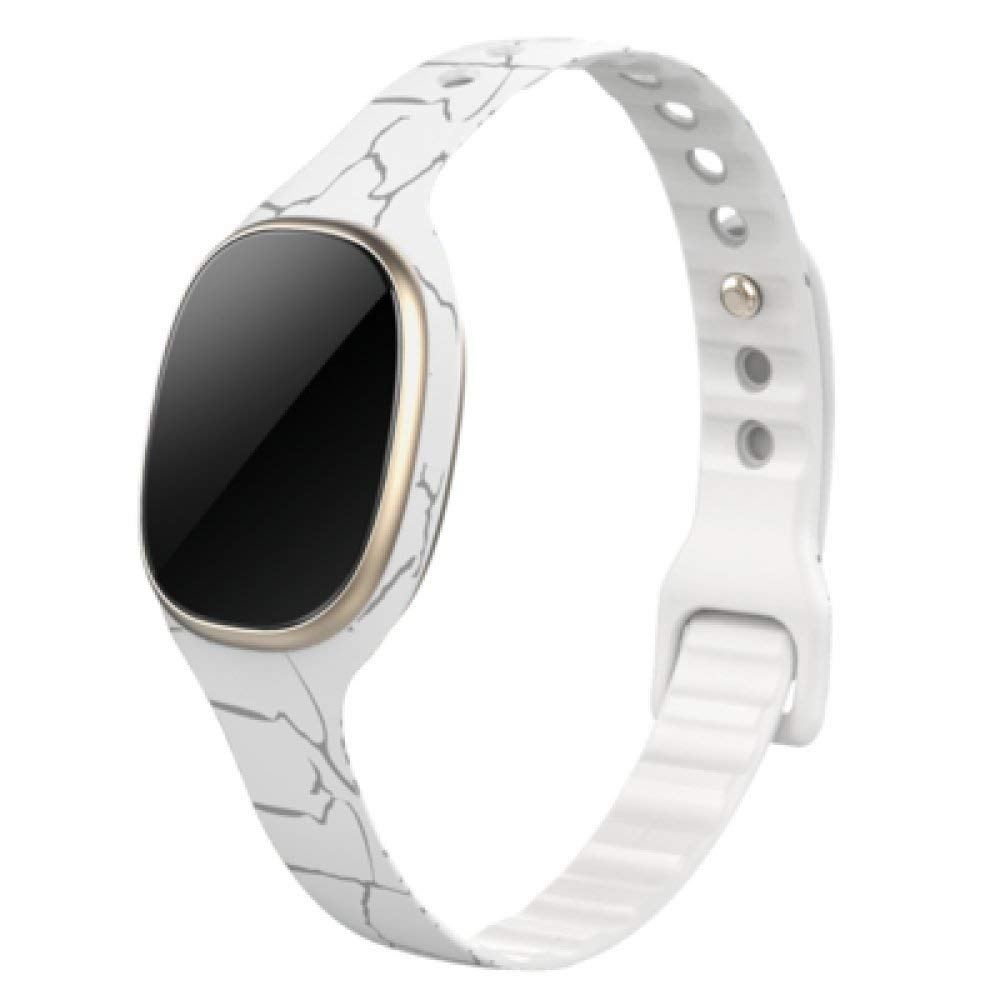 ANHPI Smart Bracelet Watches Men And Women Heart Rate Blood Pressure Monitoring Bluetooth Waterproof Sports Heart Wheat Happy Bracelet,C