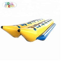 Double Tubes water sports Inflatable banana fish raft Boat Equipment for 10 persons