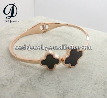925 Sterling Silver Fashion Bracelets Two Flowers for Jewelry