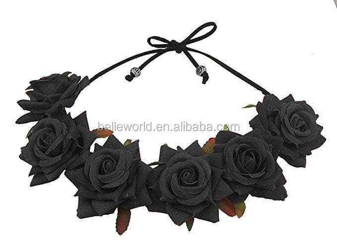 Floral Fall Rose Red Rose Flower Crown Woodland Hairl Headband