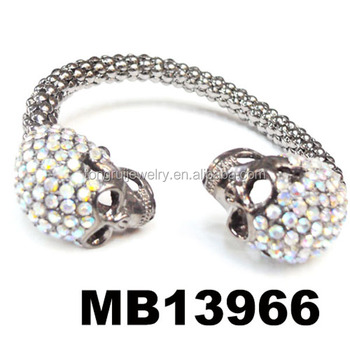 Rainbow Color Rhinestone North Skull Bracelet Meaning