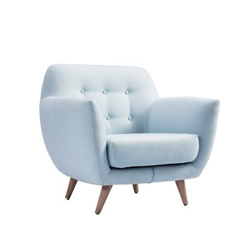 1 Seat Blue Royal Vintage Armless Chair Sofa Relaxing