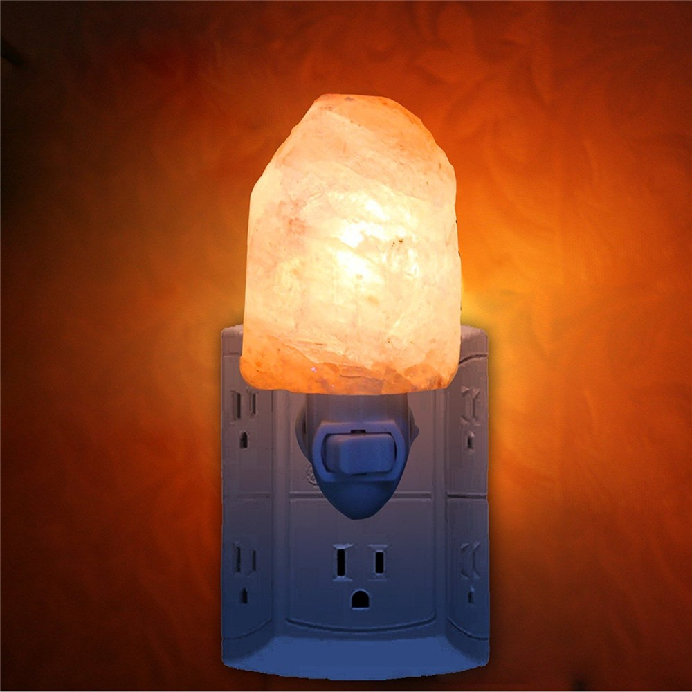Household Air purifier US EU UK AU Plug wall Natural Carved Crystal Himalayan Salt Lamp Night Light for home health