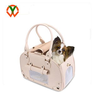 Wholesale Waterproof Premium Leather Pet Travel Portable Bag Carrier