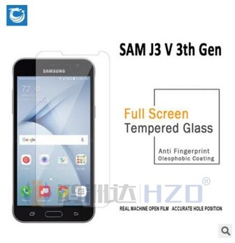 Full screen 2.5D Tempered Glass Screen Protector with 0.26mm  with factory price for  Samsung J3 V 3th Gen ST-387