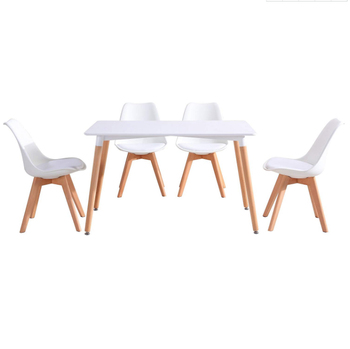 Brilliant Tulip Retro Design Style Solid Wood Leg Padded Chairs And Table Set For Office Lounge Dining Kitchen Buy Wood Rectangular Dining Table 4 Retro Metal Unemploymentrelief Wooden Chair Designs For Living Room Unemploymentrelieforg