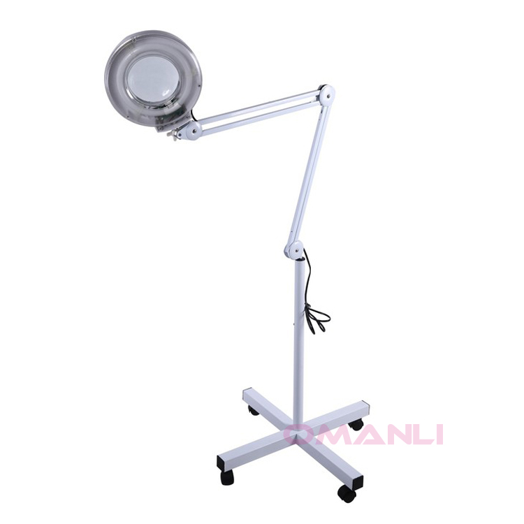 OM-L01 5X Magnifying Lamp Rolling Floor Stand Ballast Starter Facial Skin Salon
