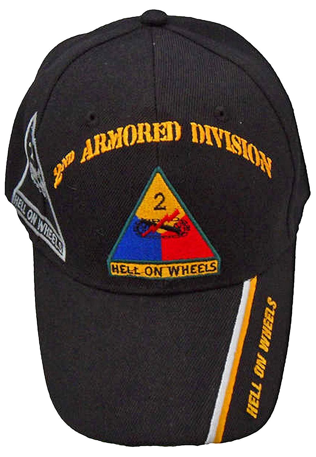 Buy Caps and Hats 2nd Armored Division Army Cap Hell On Wheels Baseball Hat Second