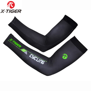 X-TIGER Outdoor Sport Compression UV Sun Protection Cooling sleeves wholesale custom lycra running arm sleeves