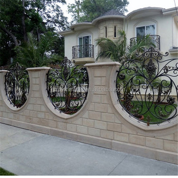 Wrought Iron Fence Panel For Villa Used Wrought Iron Railings For