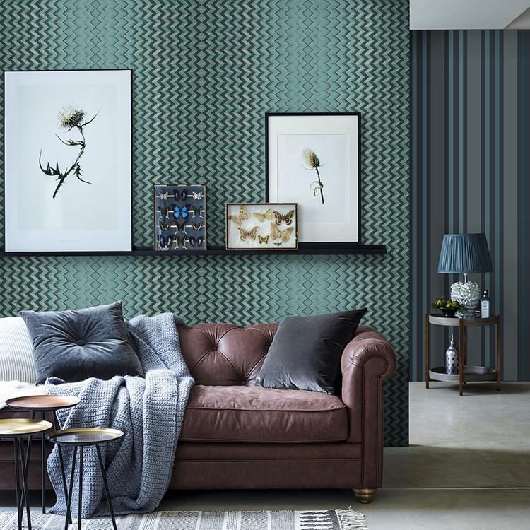 ورق حائط منزلي على الموضة الإيطالية ورق قاعدة فني لتزيين الجدران