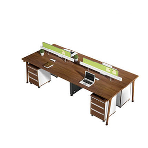 Fashion functional four people office workstation with 3 drawer pedestal