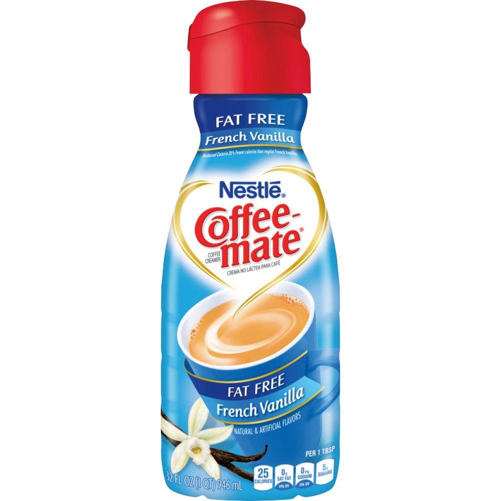 Coffee-Mate, Liquid Coffee Creamer, Fat Free French Vanilla, Quart, 32 oz