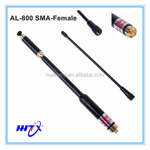 AL-800 black gold VHF UHF dual band 144/430mhz SMA MALE telescopic antenna for YAESU VX-2R walkie talkie