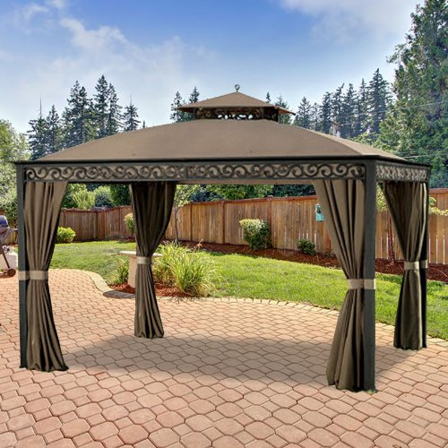 Garden Winds Replacement Canopy Top Cover for Southport Gazebo - Model L-GZ399PAL-B - (Will Not Fit Any Other Gazebo)