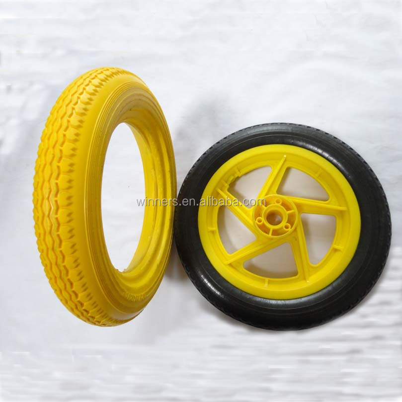 12 inch pu foaming baby bike/cart wheels