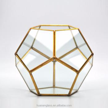 Gold Geometric Glass Terrarium Wholesale Buy Geometric Glass