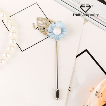 New Fashion Women s Handmade Fabric Flower Brooches For Wedding Party  Elegant Clothes Pearl Alloy Brooch Pins 699442d297