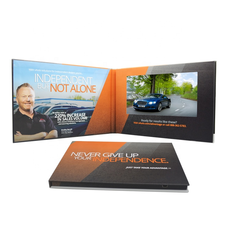 Videopak Customized Hardcover 7-Zoll-Digital-LCD-Videobroschüre