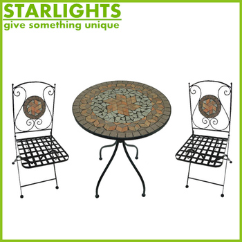 Garden Furniture Mosaic garden furniture mosaic stone table and chair bistro set - buy