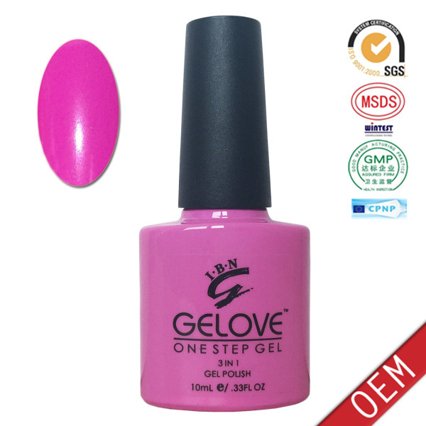 12ml colored bottle Private Label easy off one step uv gel nail polish