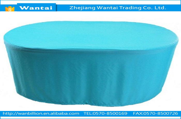 Polyester material waterproof dustproof color resistant high quality oval table cover outdoor furniture cover