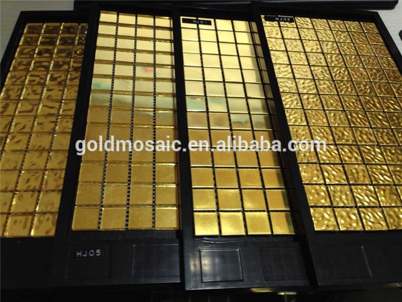 Jy hj parete interna mosaico oro vendita calda mosaico di vetro
