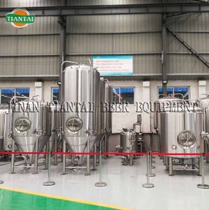 2000L stainless steel beer fermentation tank with jacket and insulation