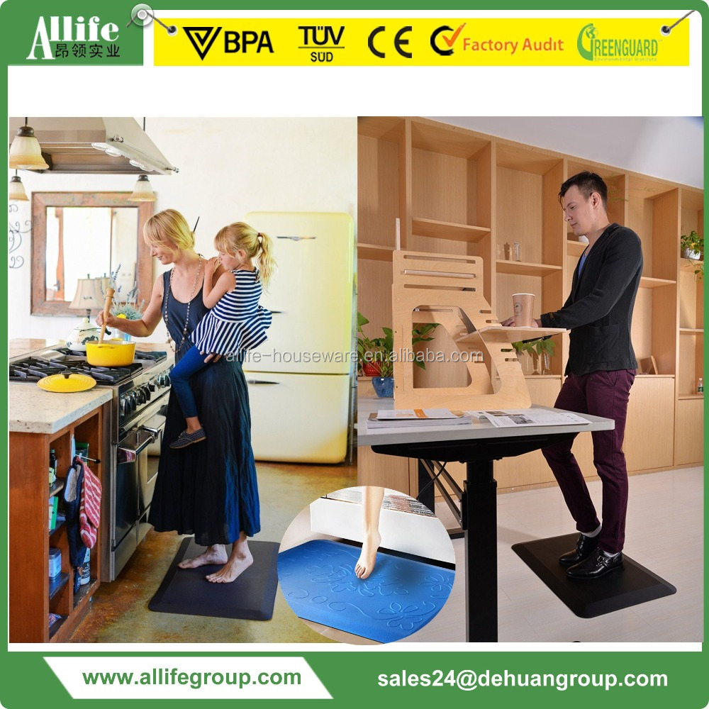 Allife Simple and Beautiful Standing Anti Fatigue Chair Mat for Office N Kitchen