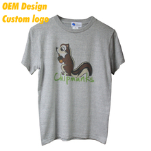 New Product Brand name Single Jersey Heat press Big size 200 gram Grey O Collar Uniform Tee shirt for Adult