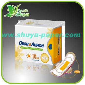 Oem Lady Anion Sanitary Napkin Manufacturer