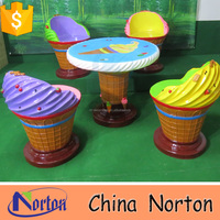 decorative ice cream table and chair ice cream shop decoration NTRS517S