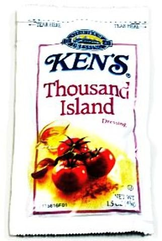 Kens Thousand Island Dressing [120 Pieces] *** Product Description: Kens Thousand Island Dressing 1.5 Oz Pouch. This Kens Salad Dressing In Individual Packs Tastes Just Like The Bottle Salad Dressing. ***