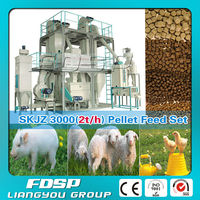 Factory sell multifunctional 2000-6000 tons mash annual fish feed set line &small feed pellet plant