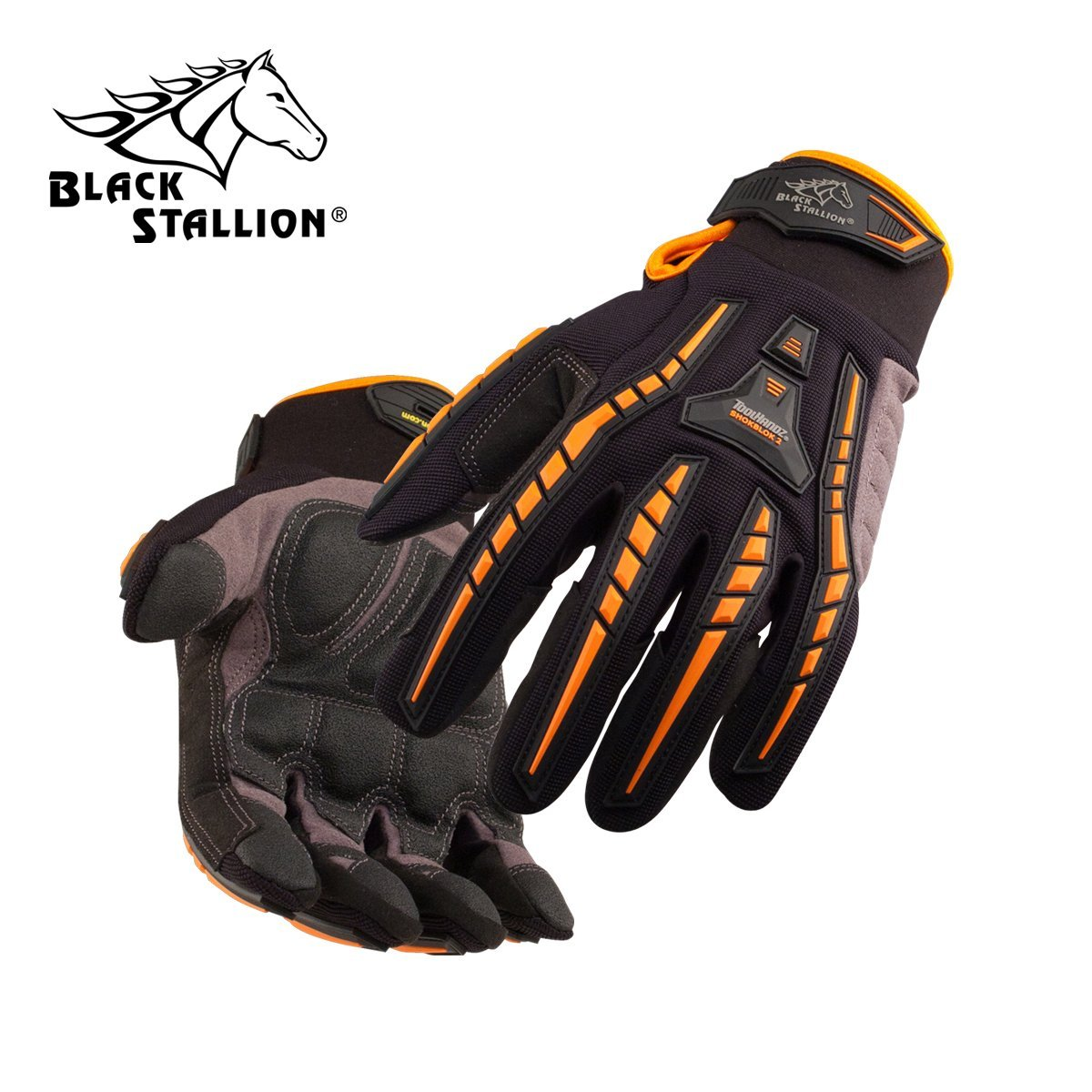 REVCO BLACK STALLION - GX100 TOOLHANDZ SYNTHETIC LEATHER MECHANIC'S GLOVES - SIZE: LARGE - CASE OF: 120 PAIR