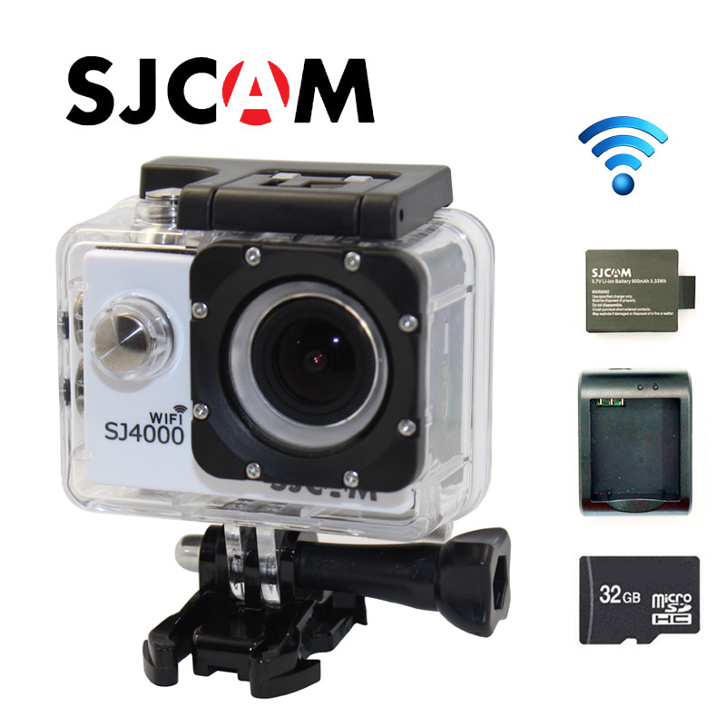 Free shipping!!Original  SJ4000 WiFi SJCAM 1080P Full HD Sport  Action Camera +Battery Charger+Extra1pcs battery+ 16GB TF Card
