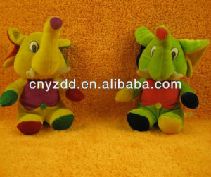 plush stuffed elephant toy/ cutting of soft toys