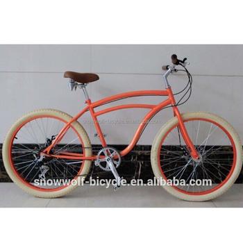 New Beach Cruiser Bike With Disc Brake Fat Tire Bicycle Fashion Cruisers